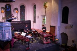 The Trio Be One in the church Adelboden
