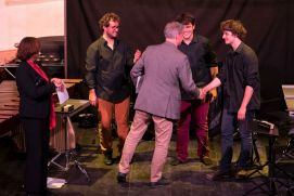 Trio Be One receives 3rd prize from Heiner Hempel