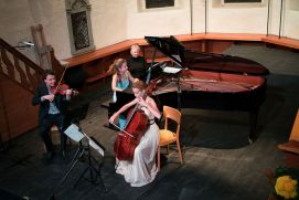 The Delta Piano Trio in the church Adelboden