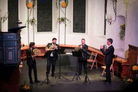 The Darbellay Horn Quartet in the church Adelboden